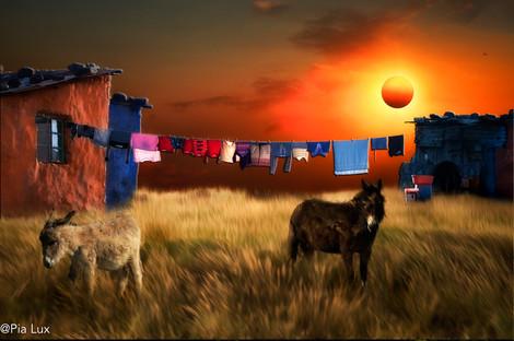 Rural washing day