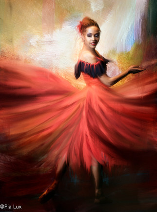 She danced with the red dress