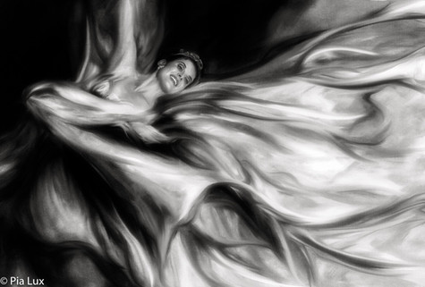 A flight of fantasy on a windswept field