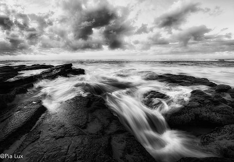 Flowing over the rocks