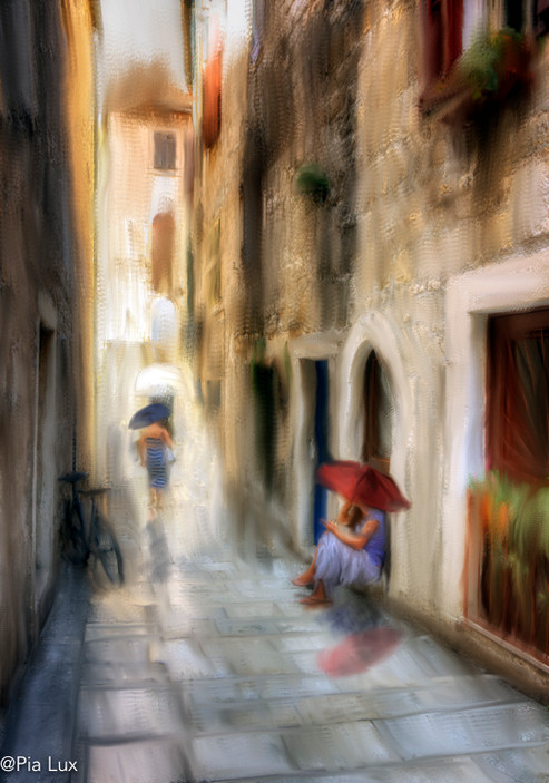 Alley in brushes