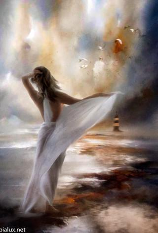 Her happy memories, dancing through her