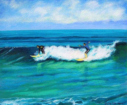Winter Surfers Cottesloe