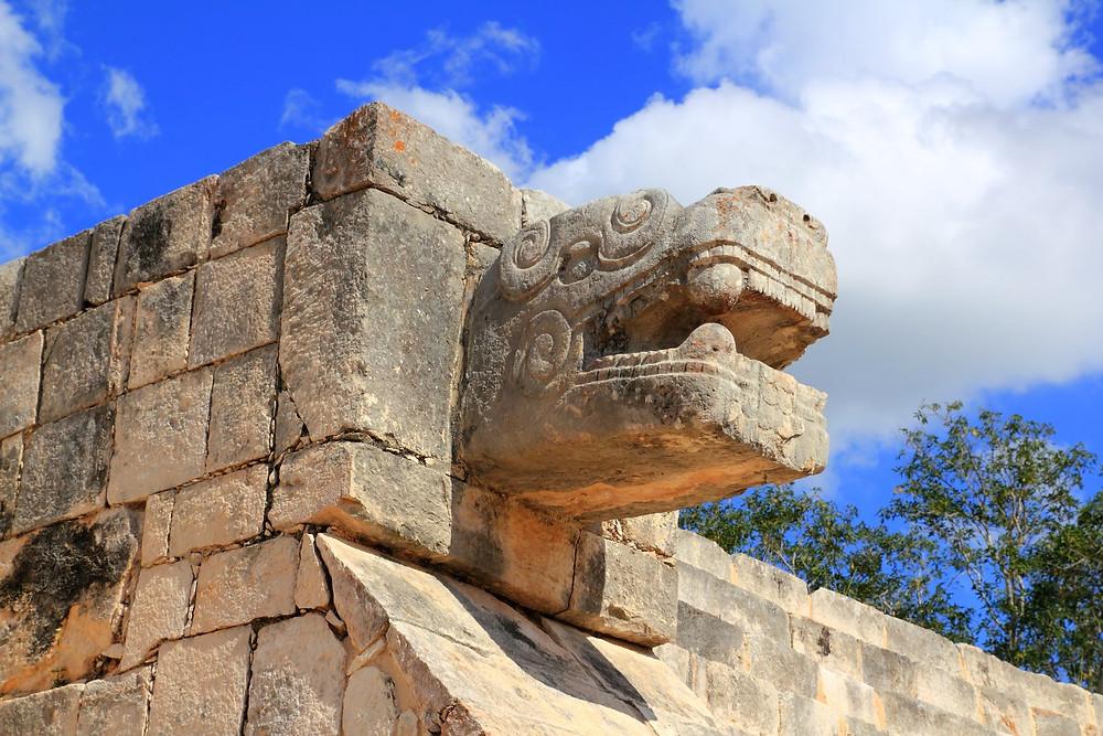 Chichen Itza serpent snake Mayan ruins Mexico Yucatan