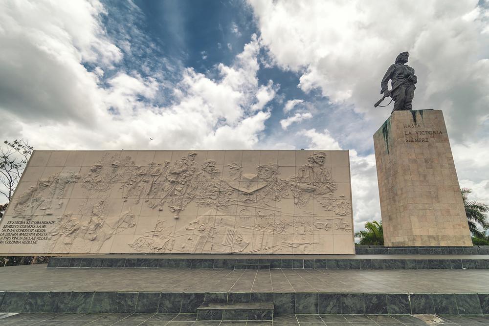 Statue of Che Guevara in the Memorial and Museum in Santa clara
