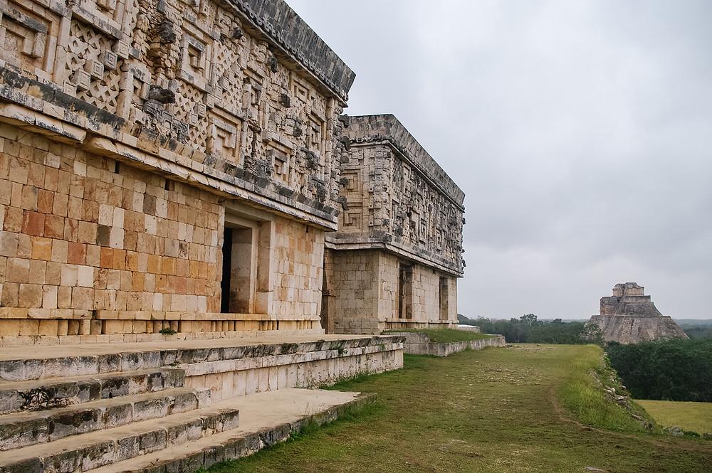 Ancient mayan pyramid. Uxmal, Merida, Yucatan, Mexico