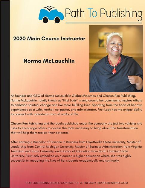 Norma McLauchlin Main Course Instructor