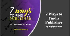 7 Ways to Find a Publisher