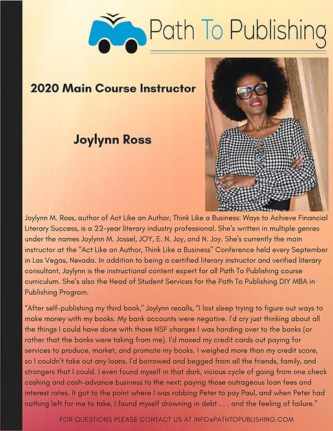 Joylynn Ross Main Course Instructor 2020