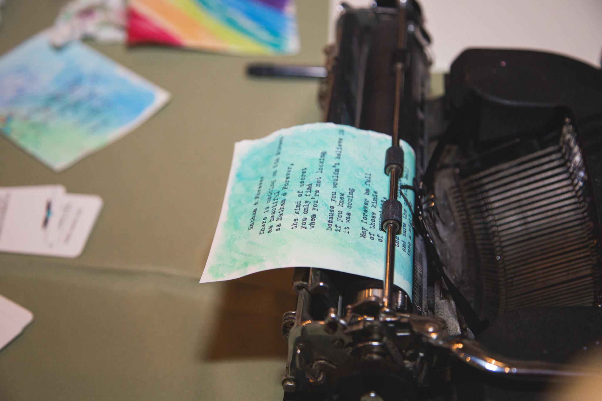 Typewriter poet