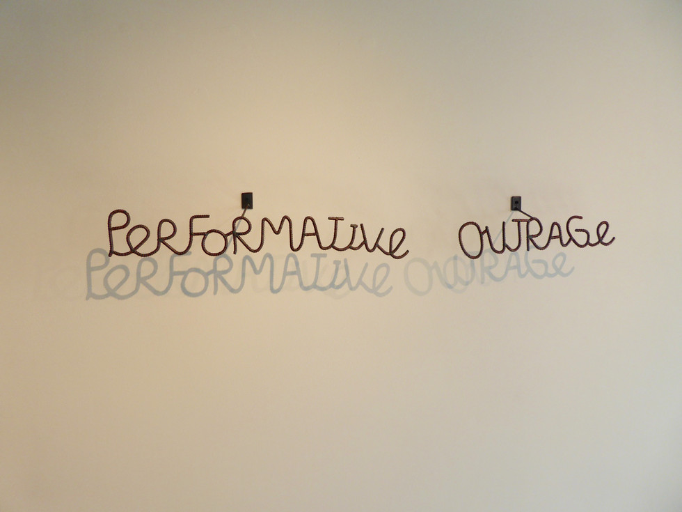 Performative Outrage
