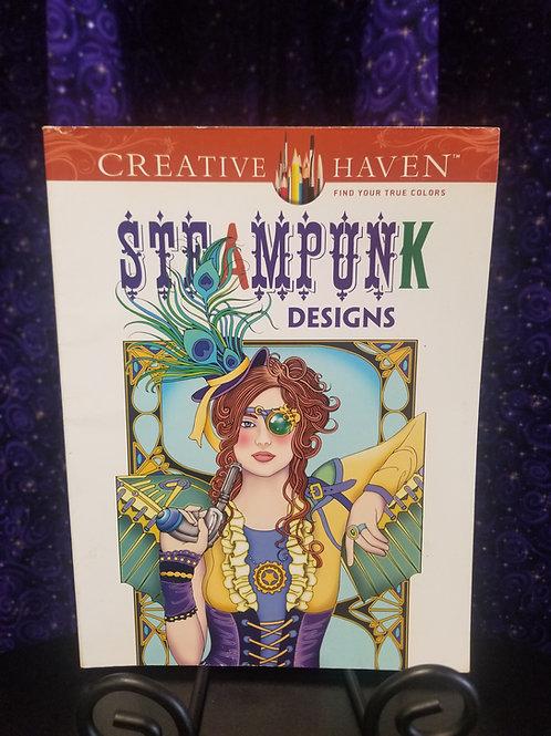 Steampunk Designs Coloring Book