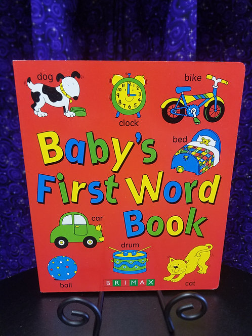 Baby's First Word Book- Large Board Book