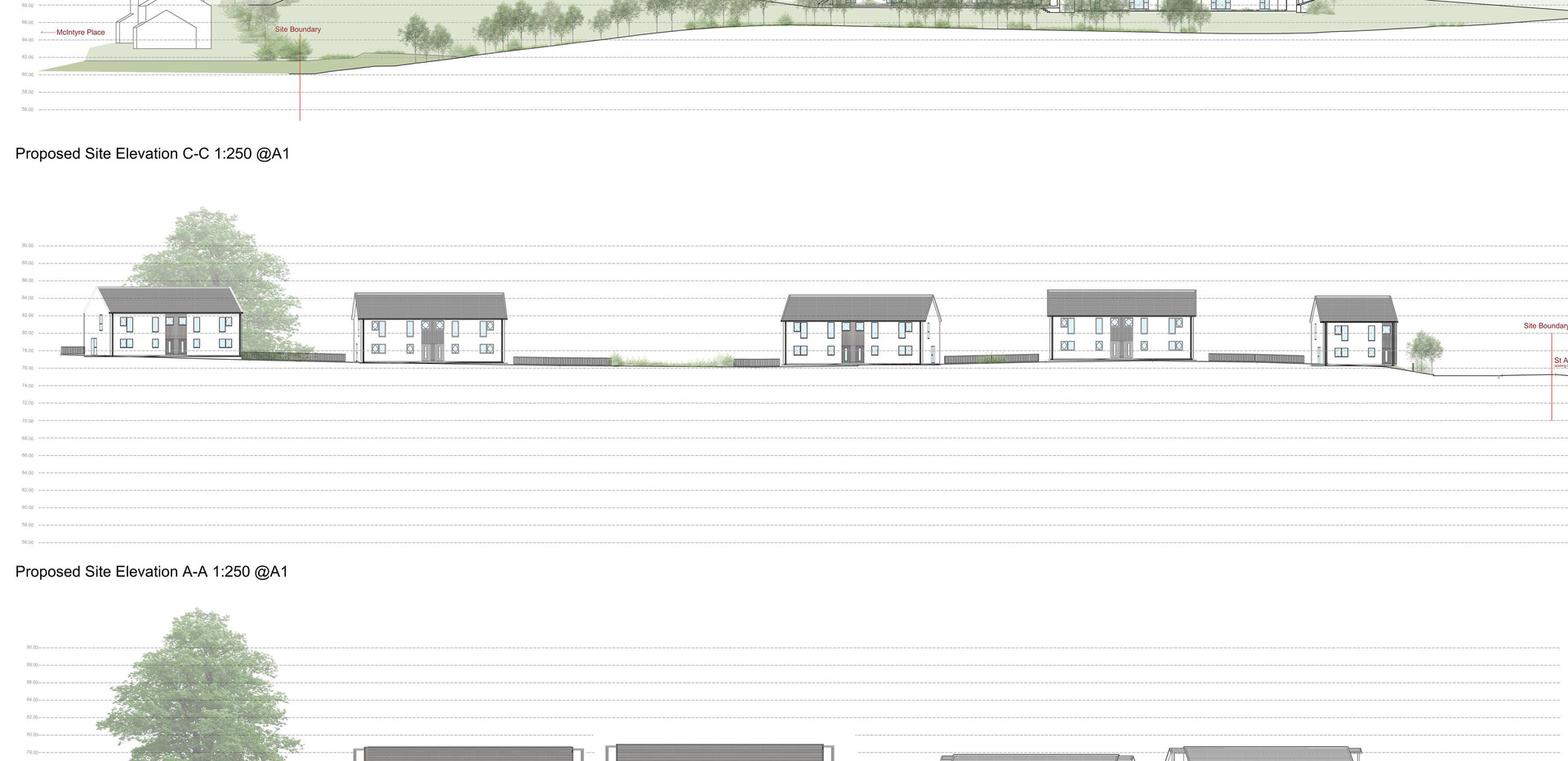 St Andrews Road - Site Elevations