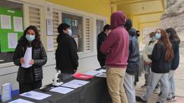 Exposición de trabajos para Evaluación Interna se realizó en el pabellón de E Media