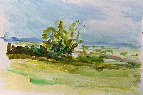 Locke Farm Watercolor