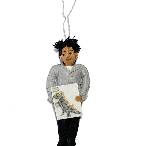 Basquiat Felted Ornament