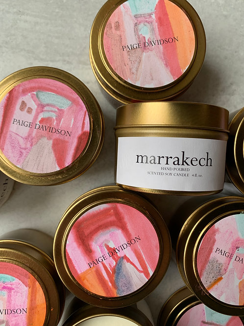 Paige Davidson Hand-painted Marrakech Candle