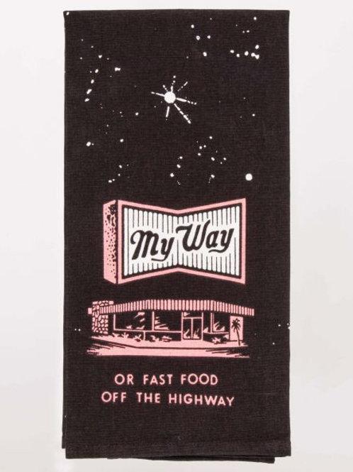 Fast Food Highway Tea Towel