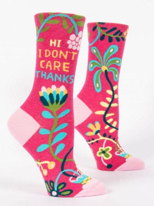 Hi. I Don't Care Socks