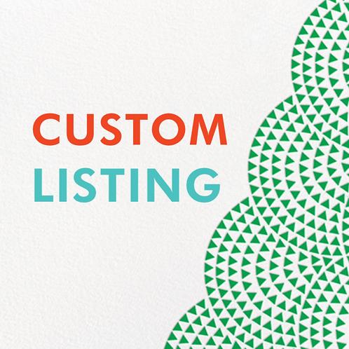 Custom Listing for Sharon
