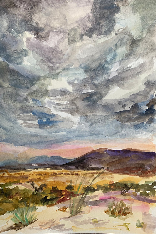 Chisos Storm Watercolor