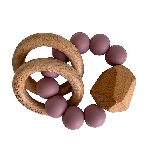 Gem Wood & Silicone Teether