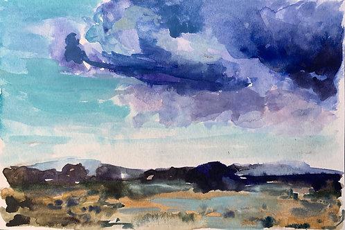 Mesa Storm Watercolor