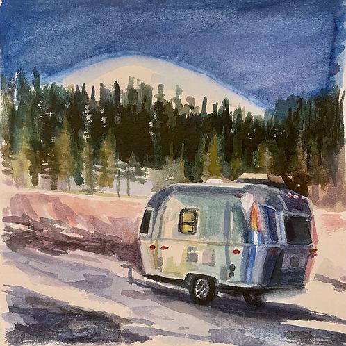 Wax & Wane Airstream Watercolor