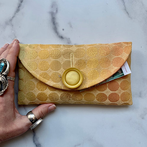 Golden Hour Rounded Clutch