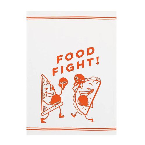 "Pair of ""Food Fight"" Tea Towels"