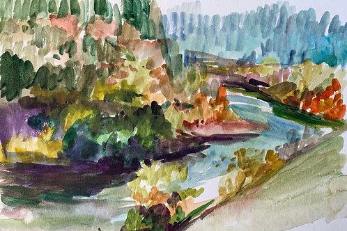 Falls Watercolor