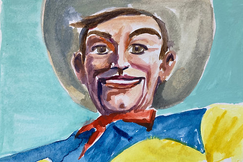 Big Tex #3 Watercolor