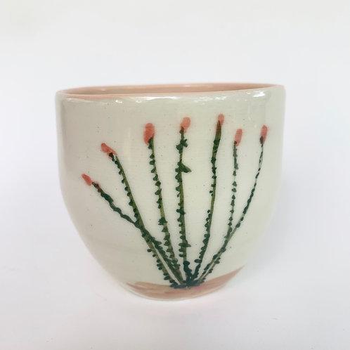 5oz White Ocotillo Cup
