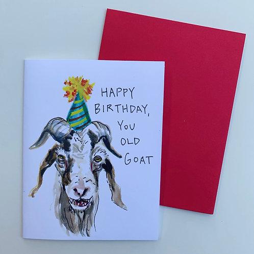 Old Goat Birthday Card
