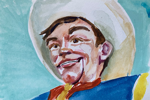 Big Tex #4 Watercolor