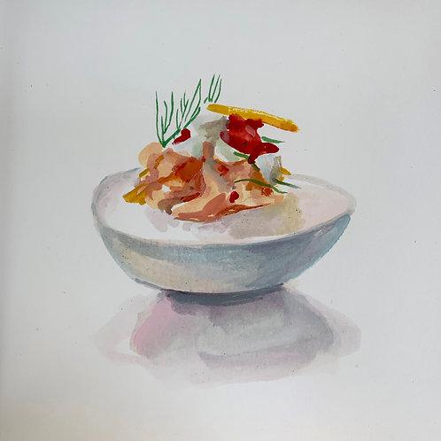 Orange & Harissa Deviled Egg