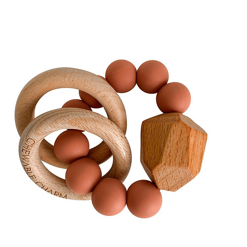 Zion Sand Wood & Silicone Teether