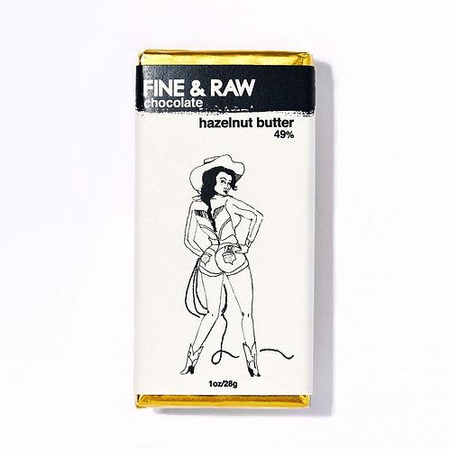 Fine & Raw 1 oz Hazelnut Chocolate Bar