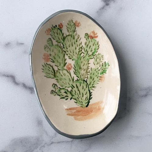 Small Oval Opuntia Dish