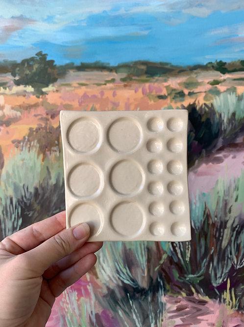 Handmade Ceramic Watercolor Palette