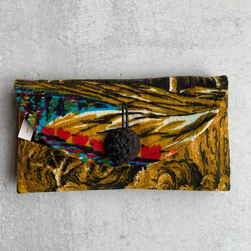 Peacock Trails  Rounded Clutch