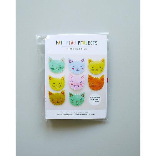 Kitty Cat Pins Kit