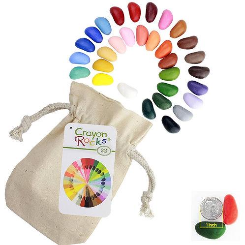 Crayon Rocks in a Bag - 32 colors
