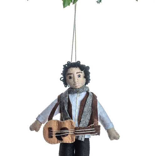Bob Dylan Felted Ornament