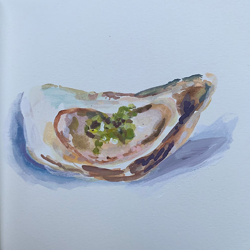 Oyster with Fresh Herbs