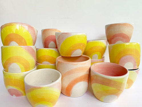 5 oz Pink Lemonade Rainbow Cup