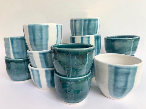 5oz Indigo Stripe Cup