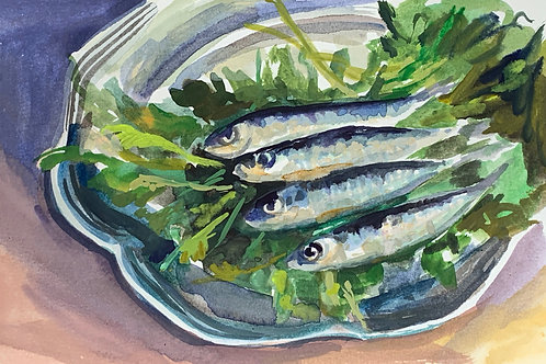 Sardines with Greens