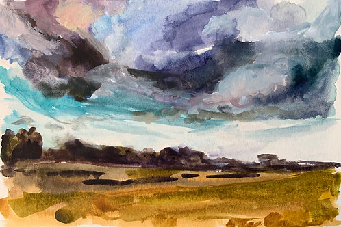 Storm Watercolor